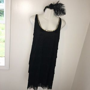 Roaring 20's Flapper Costume Sz Small Jerry Beck